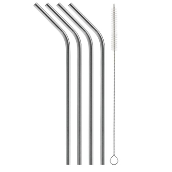 Bent Stainless Steel Straw (4 pack)