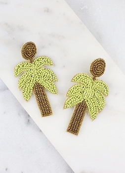 Carstic Beaded Palm Tree Earring